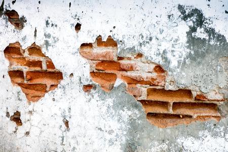 古いレンガの壁の背景廃屋 写真素材