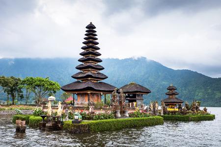 ulun: Pura Ulun Danu temple on a lake Beratan  Bali,Iindonesia