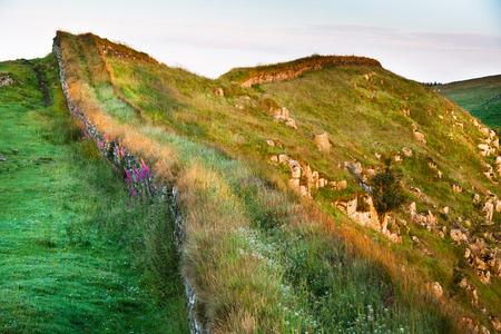 hadrian: Hadrian s wall, Northumberland, England  Stock Photo