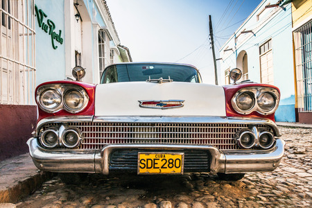 american car oldtimer in the street of Trinidad Cuba