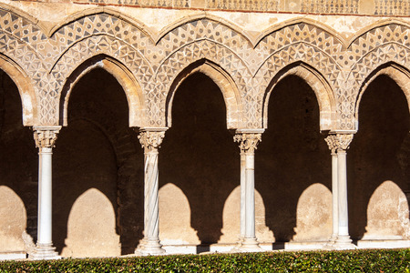 cloister: Cathedral of Monreale, Sicily, Italy