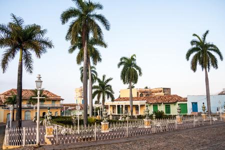 トリニダード、キューバのマヨール広場のビュー 写真素材