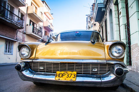 classic American car on streets of Havana