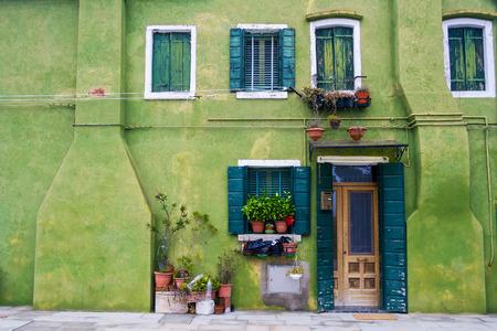 europe: Houses of Burano an island of the main island of Venice, Italy, Europe