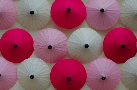 umbrella on the wall photo