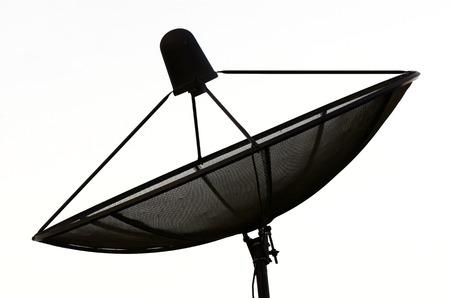parabolic: satellite dish on isolate