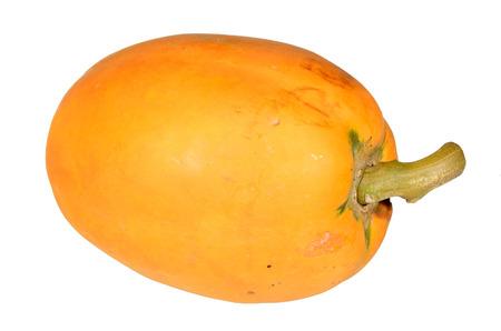 cranny: Fresh and tasty papaya on isolate