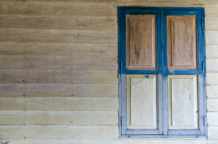 Wooden window and wall wooden  photo