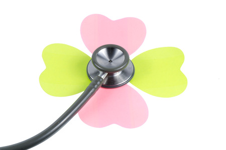 Medical stethoscope flower isolated on isolate