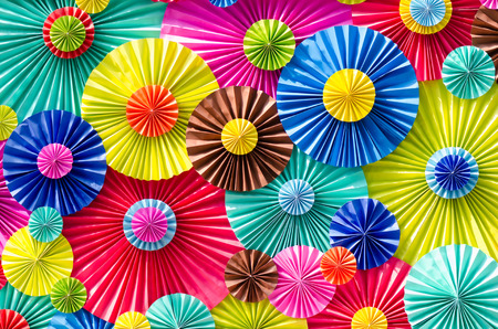 The colorful of umbrellas  photo