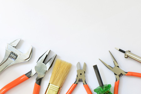 Tools isolated on a white background. photo