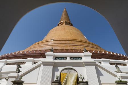 nakhon pathom: Phra Pathom Chedi(Big pagoda),Nakhon Pathom,Thailand Stock Photo