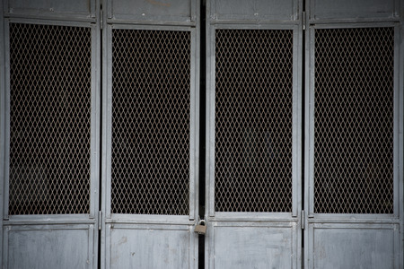 iron curtains: The background image of the old steel door.