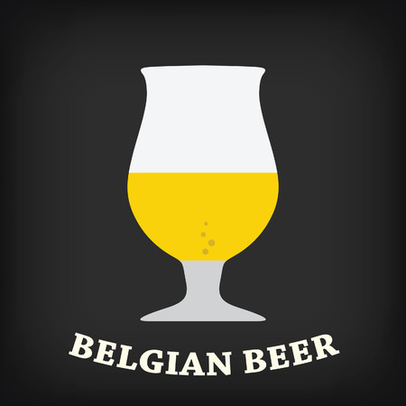 beer glass: Belgian beer glass Illustration