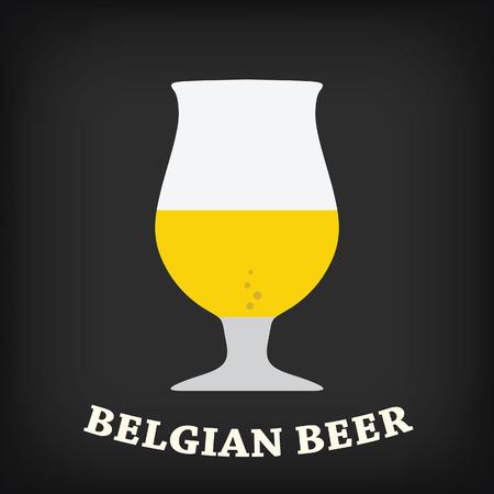 vasos de cerveza: Vaso de cerveza belga Vectores