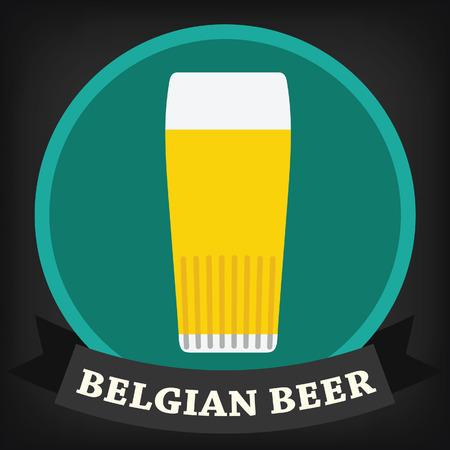 draught: Belgian beer glass Illustration