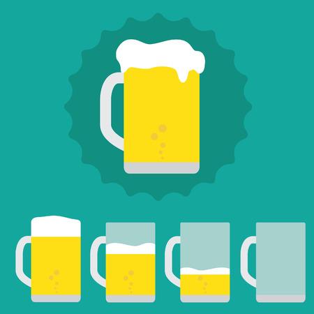 borracho: Pinta de cerveza Vectores