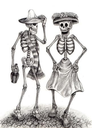 ¢  day of the dead       ¢: Arte cráneo Día del Dibujo dead.Hand en papel.