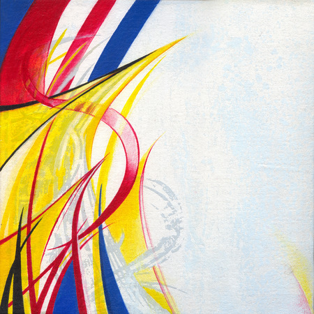silk screen: Art abstract. Hand color painting and silk screen on canvas.