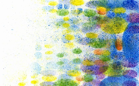future background: Abstract colorful background. Handmade stencil on paper. Stock Photo