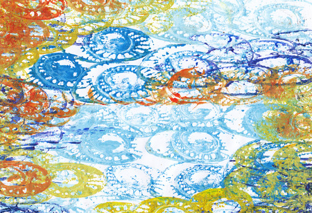Art abstract Background . Handmade color painting on canvas. Stock Photo