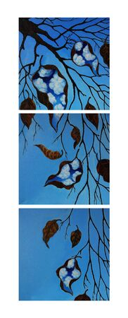 Art Fantasy Surreal Nature For Decor.Hand painting on canvas.