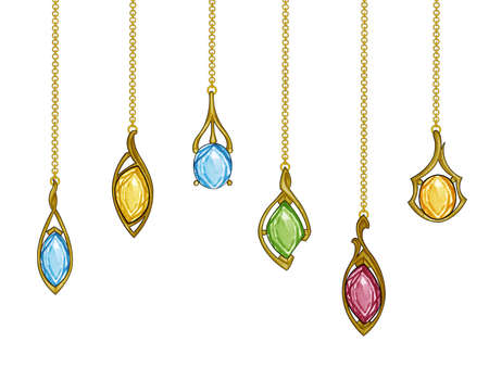 Jewelry design modern art jewelry gold fancy sapphire set pendant. Hand drawing and painting on paper.