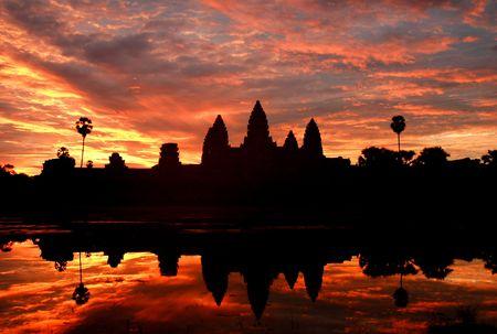 angkor: Angkor wat sunrise Stock Photo