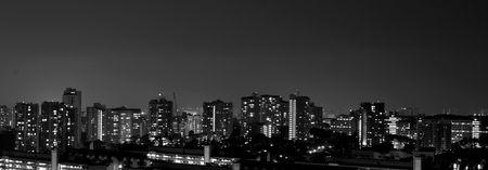 Singapore residential night scene photo