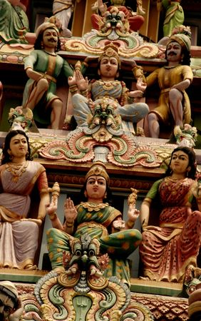 Indian temple statues Stock Photo - 749423