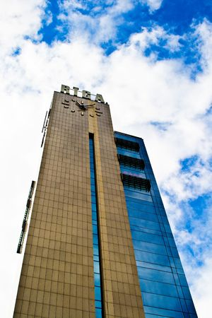 Clocktower Riga Stock Photo