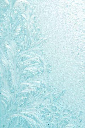 Ice pattern on window blue colour Stock Photo - 5387721
