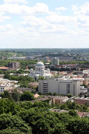 kaunas: City panorama Kaunas Stock Photo