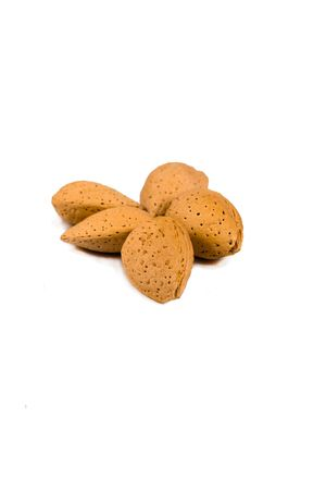 Group of almonds in shell