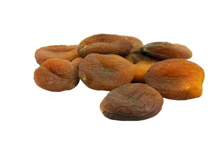 Group of dried Apricots natural isolated on white