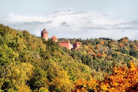 sigulda: Turaida castle at Sigulda Latvia Stock Photo
