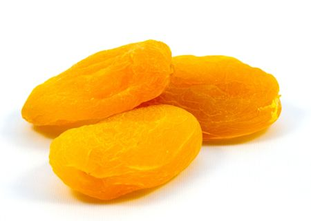 dried apricots isolated on white background Stock Photo