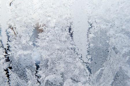 Ice pattern on window white colour