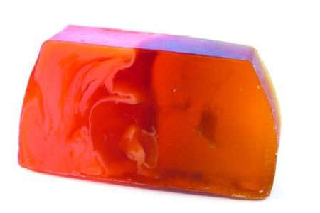fruity soap on white background Stock Photo