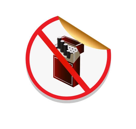prohibiting: sign in the form of stickers prohibiting smoking Illustration