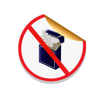 sign in the form of stickers prohibiting smoking Vector