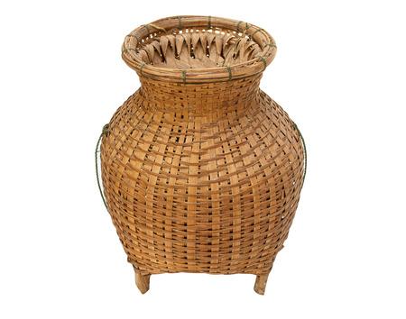 wickerwork: Bamboo weaving is handmade from bamboo Thailand style