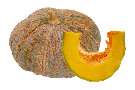pit fall: Pumpkin isolated on white background Stock Photo