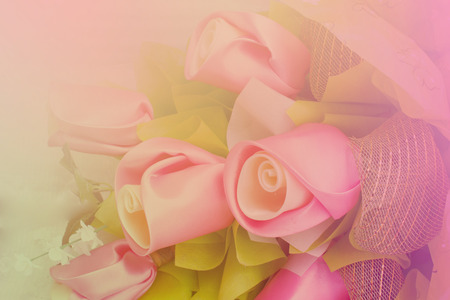colorize: Sweet color fabric roses in soft style for background