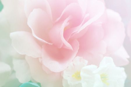 petals: sweet color fabric roses in soft style for background