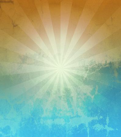 Grunge Sun Sunburst Pattern, vintage sunburst Banque d'images