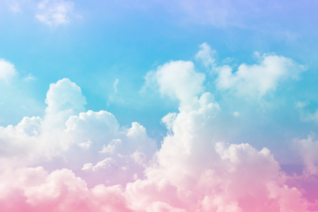 Cloud and sky with a pastel colored background Imagens