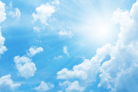 Beautiful blue sky with sun for background Stock fotó