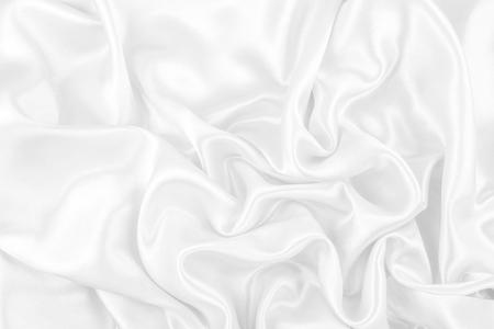 Luxurious of smooth white silk or satin fabric texture background Stock Photo - 108566491