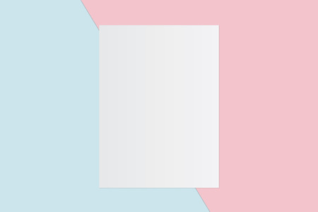 White paper and space for text on pastel color background, Minimal concept